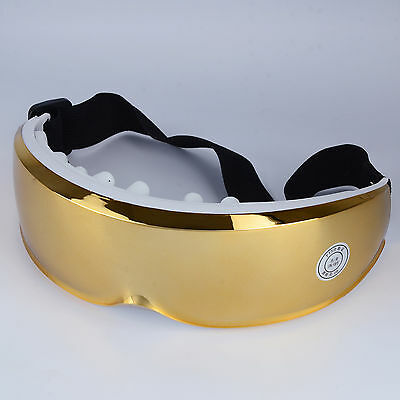 NEW Health Care Luxury Gold Rechargeable Electric Eye Massage Eye Care Glass