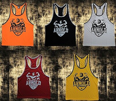 Arnold Canotta Canottiera Tank Top Palestra Bodybuilding Gym Fitness Vari Color