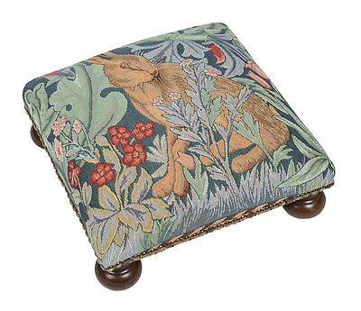 Tapestry Footstool in William Morris The Hare - Made in England