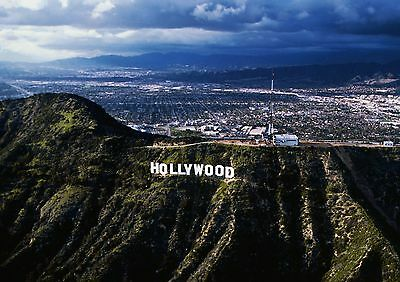 Art print POSTER Hollywood Sign and San Fernando Valley