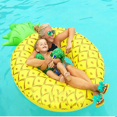 Inflatable Giant Pineapple  Shaped Pool Float Raft Ring Swimming Water Fun
