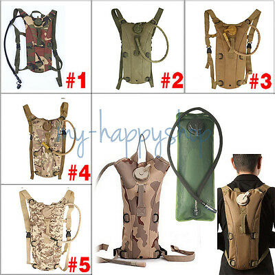 3L Hydration Packs Bike Bicycle Camel Water Bladder Bag Assault Backpack Pouch