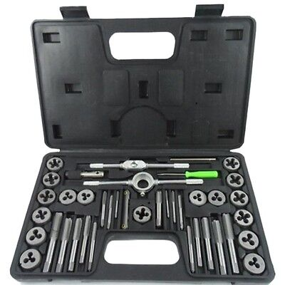 40pc Tap and Die Set Metric MM Thread Screw Extractor/Puller Removal Tools