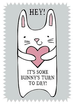 Home & Dry 100% Cotton Tea Towel - It's Some Bunny's Turn to Dry