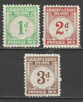 Gilbert & Ellice Islands 1940 Postage Due 1D 2D And 3D