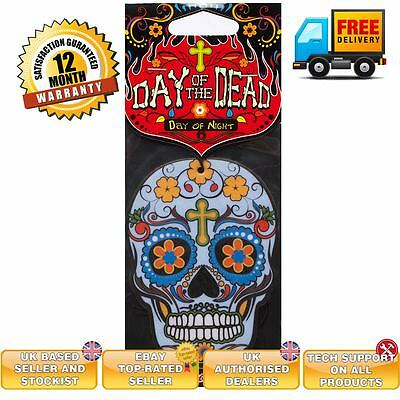 Candy Skull car air freshener Day of the Dead DAY OF NIGHT scent