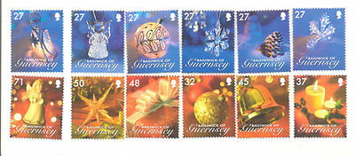 Guernsey Christmas Decorations mnh set