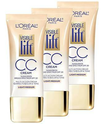 L'oreal Visible Lift Cc Cream Sunscreen Spf20 2 Shades - Choose Shade & Quantity