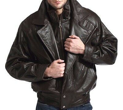 lambskin leather bomber jacket black brown double collar