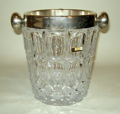 MCM  BARWARE West Germany Lead Crystal Hand Cut Wine Champagne Ice Bucket