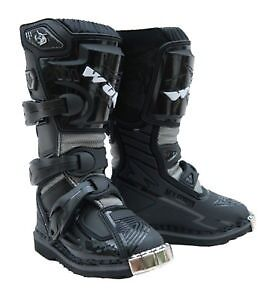 Kids Wulfsport Rugged Leather Race Boots Many Sizes In Black Or White  Bargain