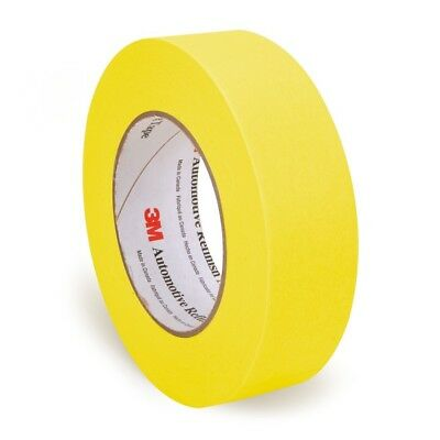 "3M 06654 Automotive Refinish Yellow Masking Tape Rolls 1.5"" in. 1 Case 24 Pack"