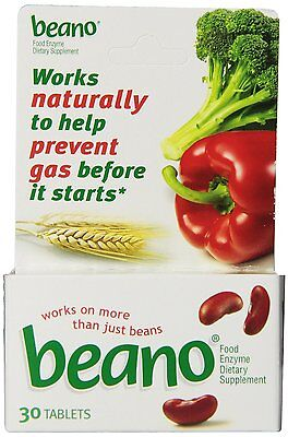 Beano Food Enzyme Dietary Supplement 30 Tablets