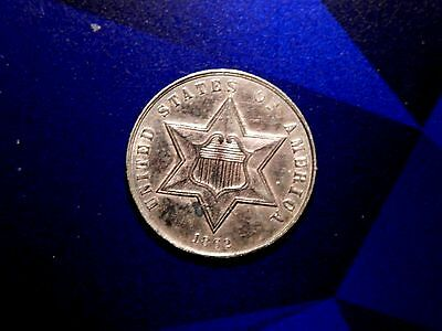 RARE 1862 3c THREE CENT SILVER PIECE PROOF +++ BUY NOW OFFER