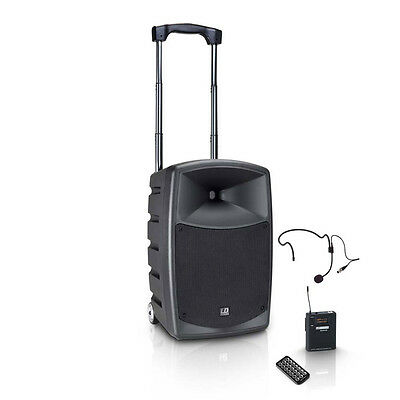 LD Systems Road Buddy10 Portable Battery PA Speaker with Wireless Headset Blu...
