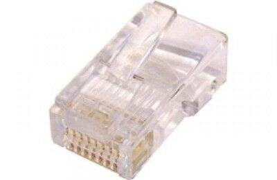 100 x UTP RJ45 Cat5 Cat5E Plugs for SOLID Cable 8p8c Cable GENUINE AMP product