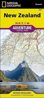 New Zealand Adventure Travel Map National Geographic Waterproof