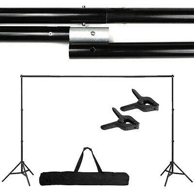 Photography Adjustable 10Ft Background Support Stand Photo Crossbar Studio Kit