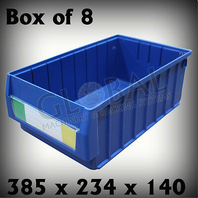 Plastic Spare Parts Trays 385mm x 234mm x 140mm Global Machinery SO04214