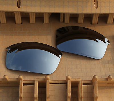 4b39e9ee85c ACOMPATIBLE Polarized Lenses Replacement Silver Mirror for-Oakley Wiretap  (New)