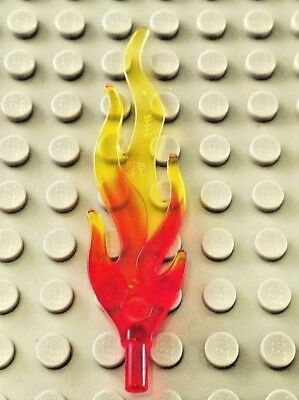 Lego 50 New Bar 4L with Flame Protusions and Marbled Trans-Yellow Pattern
