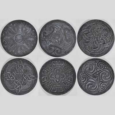 Celtic Resin Coasters 6 Design Choices 9cm Pagan Wiccan Knotwork Symbol