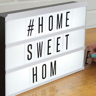 Cinema Light Box Style Message Board Changeable Letters