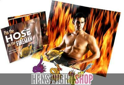 Pin the Hose on the Fireman Hens Night Bachelorette Party Macho Adult Game Gift