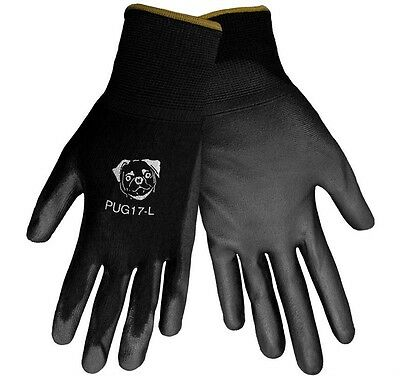 Global Glove PUG Polyurethane Coated Nylon Gloves 12 Pair LARGE (PUG17-L)
