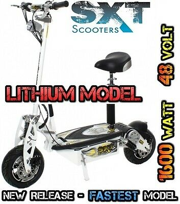 Ultimate Sxt Xl 48V 1600W Lithium Turbo Electric Scooter - White All Terrain