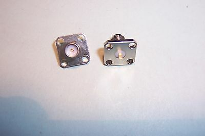 SMA panel or chassis mounted sockets 4 hole flange type Qty.2  NEW Radiall parts