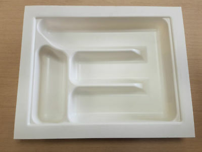 Cutlery Insert tray-Cream white various widths to fit 380x440mm deep (Hafele)
