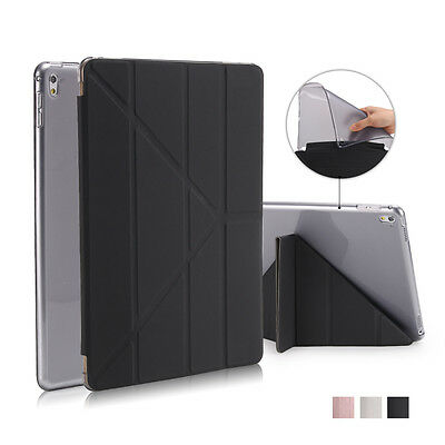 For iPad Mini Screen Protector/PU Plain Skin TPU Slim Magnetic Smart Cover Case