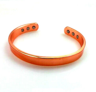 Mens Ladies Healing Copper Magnetic Therapy Bracelet Arthritis Pain Relief