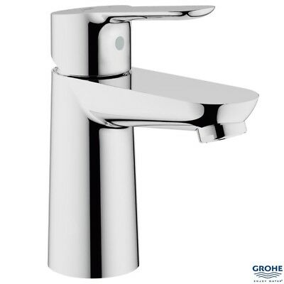 "GROHE 23330 BauEdge Single Lever Basin Mixer 1/2"", No Waste, Chrome, 23330000"