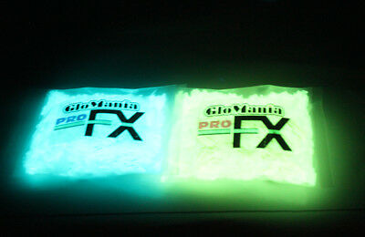 Blue and Green Glow in the Dark Daytime Invisible Paint Flakes- 8oz bags