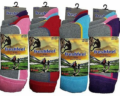 3 Pairs of Ladies Chunky Working Trekking Walking Hike Thick Boot Socks 4-7