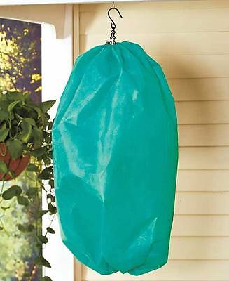 "Hanging Plant / Flower Basket Covers Protection 28"" X 40"" Wind Frost Water Bugs"