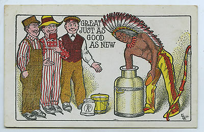 C1905 Scarce Pt Pu Adv Lithographed Postcard Indian Cleaner Usa P89