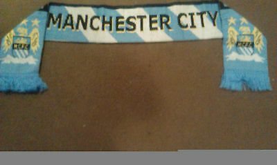 MANCHESTER CITY FC knitted Soccer Scarf