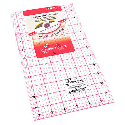 """Sew Easy Patchwork Quilting Ruler 12"""" x 6.5"""""""