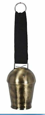 French Country Vintage Inspired Wrought Iron Cow bell with hanging Strap New