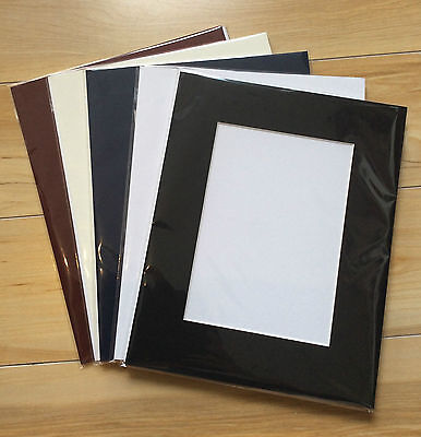"""12 x Professional Picture Framing Mat Boards 11x14"""" with 8x10"""" Window Mount Kits"""