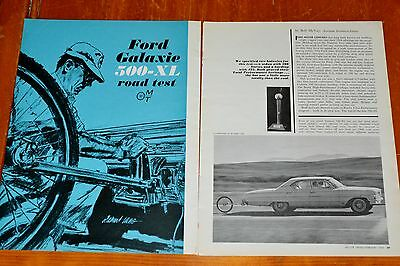 1964 Ford Galaxie 500Xl 4 Door Ht Motor Trend Road Test Article