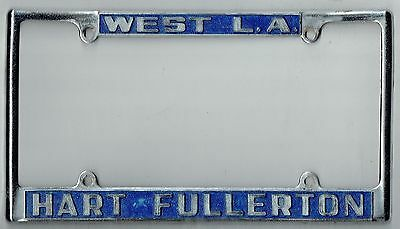 west los angeles california hart fullerton chrysler vintage license plate frame