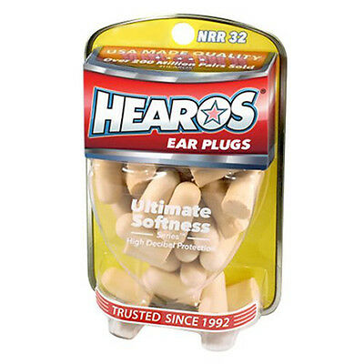 Hearos Earplugs Ultimate Softness Ear Protection NRR 32dB