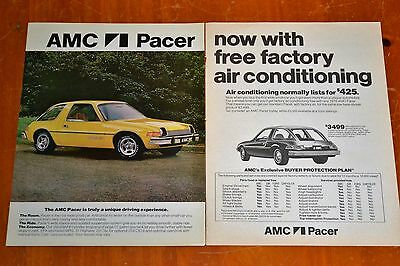 Cool 1976 Amc Pacer X Now With Free Air Conditioning Ad - Vintage Retro American