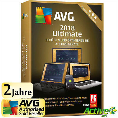 AVG ULTIMATE 2018 Unbegrenzte Geräte PC,Mac,Android,iOS TuneUp Internet Security