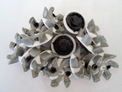 Champ Helix Slim-Lok Golf Spikes-White And Gray-14 Spikes