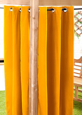 Yellow 140 x 180cm Outdoor Curtain Eyelet Panel Garden Décor Drape Patio Shade